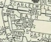 Bristol Street (detail of 1950 map)